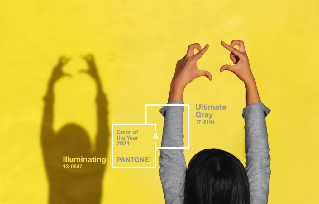 Pantone Colour of The Year 2021 - Illuminating and Ultimate Grey