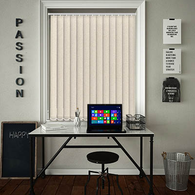 Buy Paloma Almond Vertical Blinds Great Value Sale