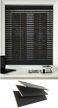 black wooden blinds. Black Wooden Blinds
