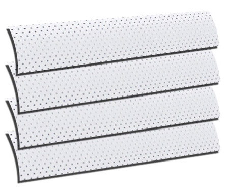 Perforated Soft Silver Roller Blind