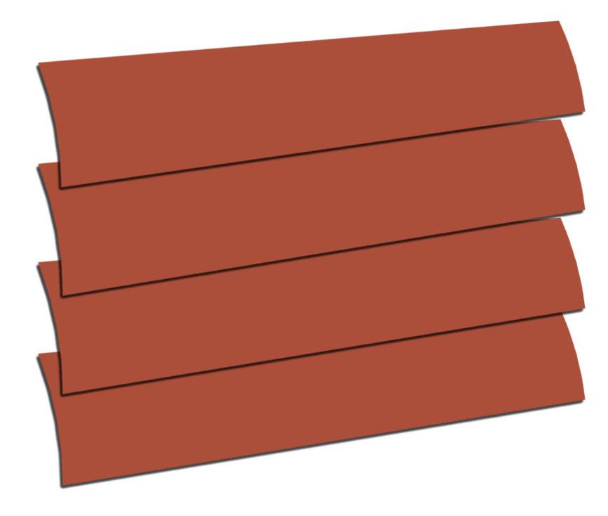 Terracotta Replacement Vertical Blind Slat